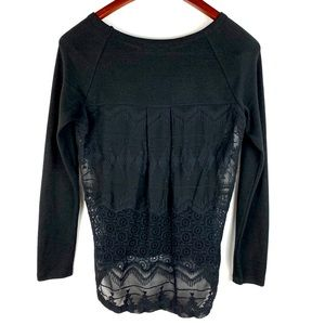 Brixon Ivy Long Sleeve Crocheted Blouse S